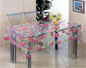 New Design Waterproof Oilproof PVC Printed Transparent Tablecloth pictures & photos