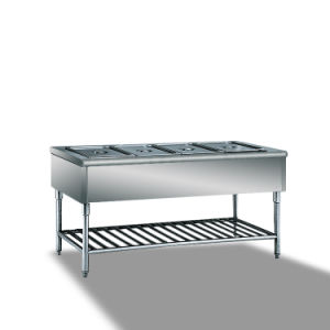 Stainless Steel Warming Food Showcase, Hot Food Warmer Showcase (TZR1200) pictures & photos