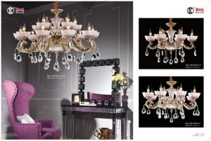 Anti-Brass Die Casting Zinc Alloy Chandelier Light pictures & photos