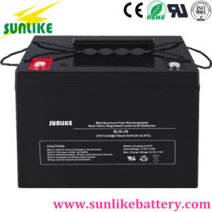 Solar Lead Acid Battery 12V75ah for Solar Home System pictures & photos