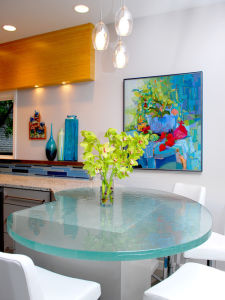 Modern Clear / Opaque Toughened Safety Glass Table Tops pictures & photos