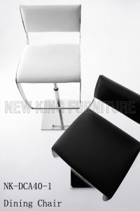 Modern Durable Customized Home White Black Bar High Chair (NK-DCA040-1)