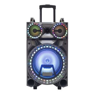 LED Light Big Power Bluetooth Speaker with Trolley 12 Inch F12-22 pictures & photos