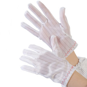 Antistatic ESD Nylon Stripped Working Gloves pictures & photos