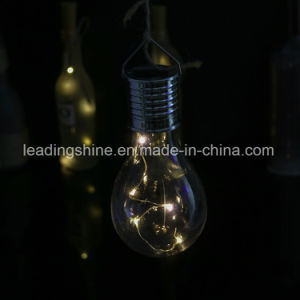 Solar White Copper Wire Fairy Light with Edison Bubble Hanging in The Garden Christmas Decoration pictures & photos