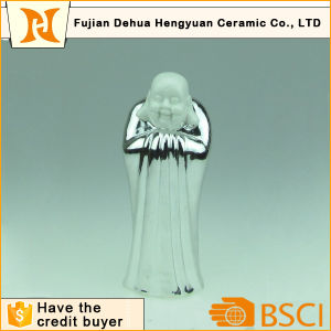 Chinese Feature Bowing Ceramic Budha Statue for Religious Decoration pictures & photos