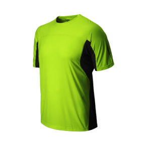 High Visibility 100% Cotton Green Fluorescent Safety Work Plain T-Shirt pictures & photos