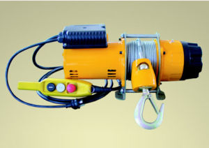 1ton Wire Rope Pulling Electric Winch pictures & photos