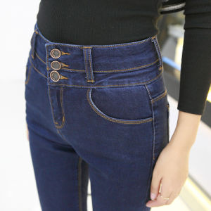 Factory Wholesale Ladies Leisure Fashion Denim Jeans pictures & photos