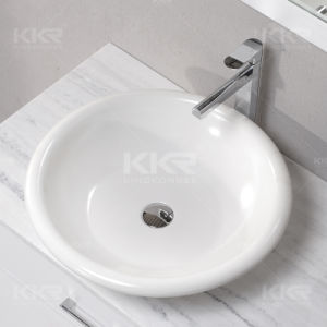 Wholesale Solid Surface Stone Bathroom Sink pictures & photos