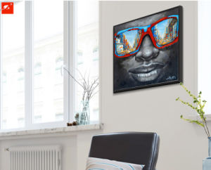 Sunglasses African Black Man Oil Painting pictures & photos