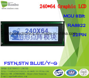 240X64 Graphic LCD Panel, MCU 8bit, Ra8822, 22pin, COB FSTN LCD Module pictures & photos