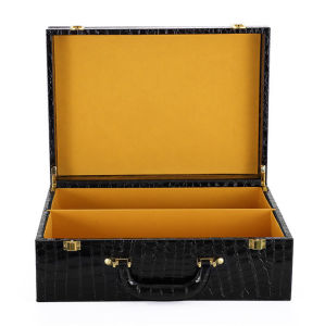 High Quality PU Leather Box with Alligator Print for Wholesales pictures & photos