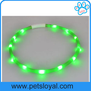 Factory Pet Supply Rechargeable LED Dog Collar pictures & photos