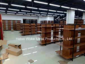 Wooden Steel Material Supermarket Shelf pictures & photos
