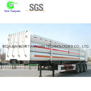 CNG Medium 9-Tube Long Cylinder Semi Trailer Container