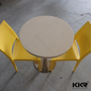 Customized Artificial Stone Food Court Restaurant Round Table pictures & photos