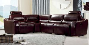 Modern Sofa with Sectional Recliner Leather Sofa for Home Sofa pictures & photos