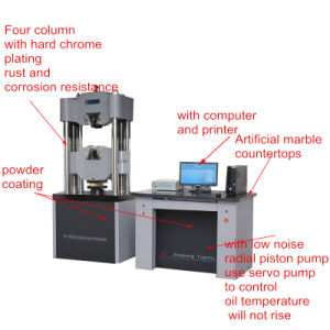 Computer Controlled Electro-Hydraulic Servo Universal Testing Machine pictures & photos