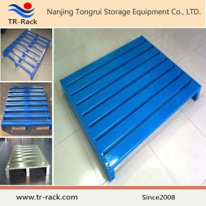 Customized Warehouse Storage Galvanized Double Faced Steel Metal Pallet pictures & photos