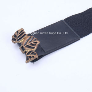 Rose Pin Buckle Spandex Fashion Clothes Ornament PU Leather Belt pictures & photos