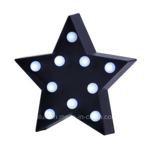 Battery Operated Star Shape 3D LED Symble Vintage Marquee Lights pictures & photos