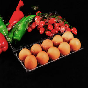 eco-friendly food grade transparent clamshell packaging pet plastic egg tray pictures & photos