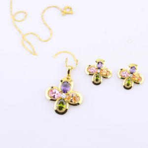 4 Clover Jewelry Set Fashion Style for Women′s, Earrings and Necklace, Hot Selling Top Quality pictures & photos