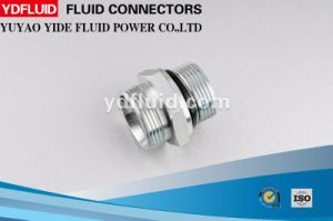 Carbon Steel White Zinc Plated Low Price Hydraulic Adapter pictures & photos