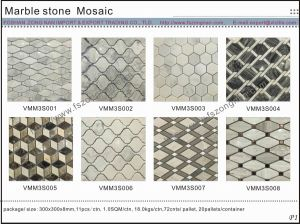 Special New Design Pattern Marble Stone Mosaic (VMM3S001) pictures & photos