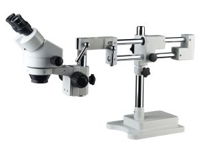 Sz0745- 3.5X-180X Arm Boom Stand Stereo Zoom Microscope with LED Ring Light pictures & photos