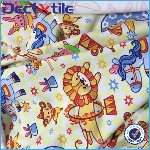 Cartoon Custom Design Digital Printed Spandex Cotton Fabric pictures & photos