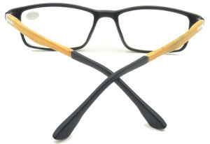 R17032 Square Frame Reading Glasses with Wooden Imitation Pattern Mens Style pictures & photos