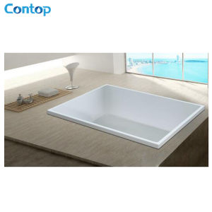 Popular Bathroom Products Square Acrylic Built-in Bathtub pictures & photos