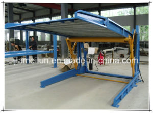 Tilting Two Post Double Layer Car Lift Auto Parking Systems pictures & photos