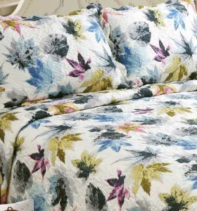 Printed Quilted Pigment Printing Microfiber Quilt/Bedding Set/Bedspread pictures & photos