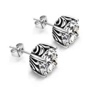 Zircon Ear Stud 316L Stainless Steel Couple Fashion Jewelry pictures & photos