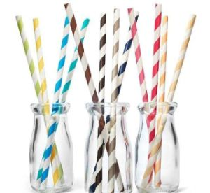 Disposable Paper Straws, Biodegradable Paper Straws