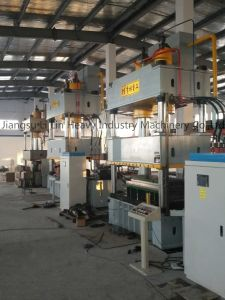 Four-Column Single-Movement Hydraulic Press for Sheet Metal Drawing Yll27-200 pictures & photos