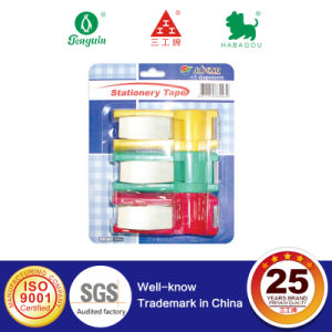 3 Rolls Stationery Tape with 3 Colored Dispenser in Blister Card pictures & photos