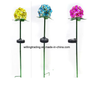 New Metal Flower Solar Lighted Stake Garden Decoration pictures & photos