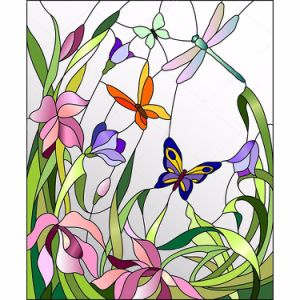 Different Style Creative Pattern Designs Stained Glass High Crafts Mural pictures & photos