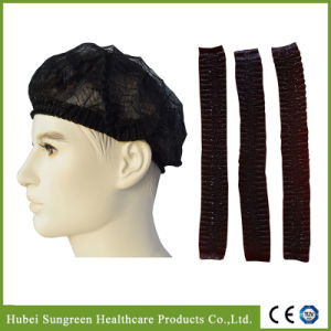 Disposable Dark Black Non-Woven Mob Cap pictures & photos