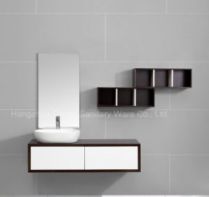 PVC and Melamine Bathroom Cabinet with Ceramic Basin pictures & photos