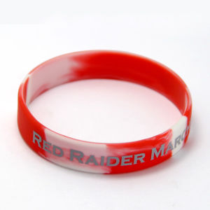 Custom Contrast Color Printing Silicone Wristband for Event pictures & photos