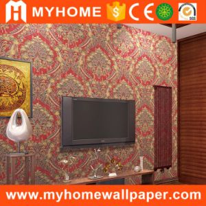 2017 China New Big Flower Damask Wall Paper PVC Vinyl Wallpaper for Home Decorative pictures & photos