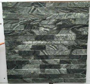 Popular Wood Grain Black Marble Cultural Stone pictures & photos