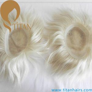 100% Human Hair Piece Customized Blonde Color Toupee pictures & photos