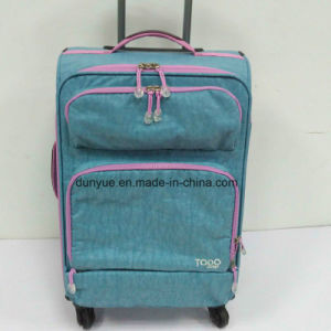 OEM Factory Custom Size Durable Ladies Washer Wrinkle Fabric Trolley Case Bag, Casual Travel Luggage Suitcase with Wheels