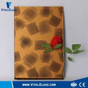 Bent Window Decorative Colored Glass/Toughened Acid Etched Patterned Glass pictures & photos